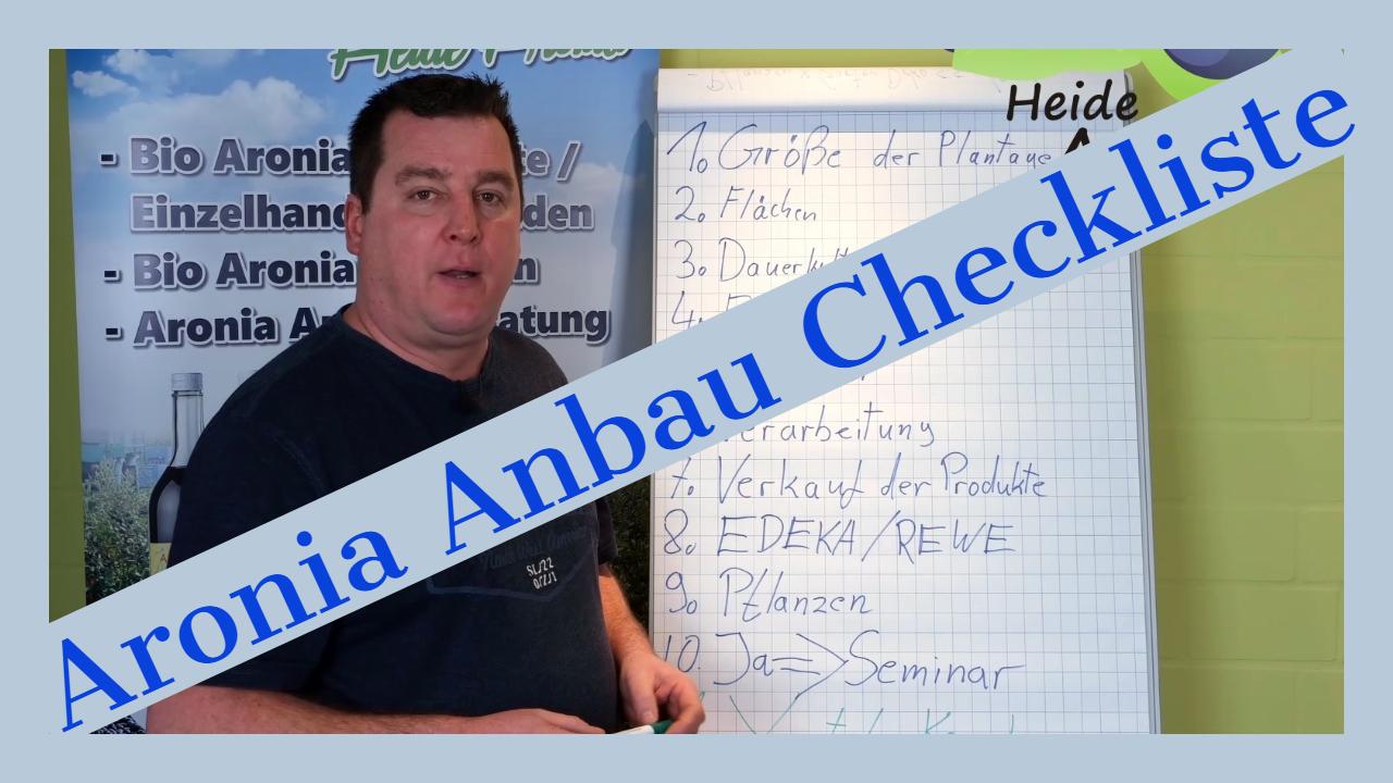 Aronia Anbau Checkliste